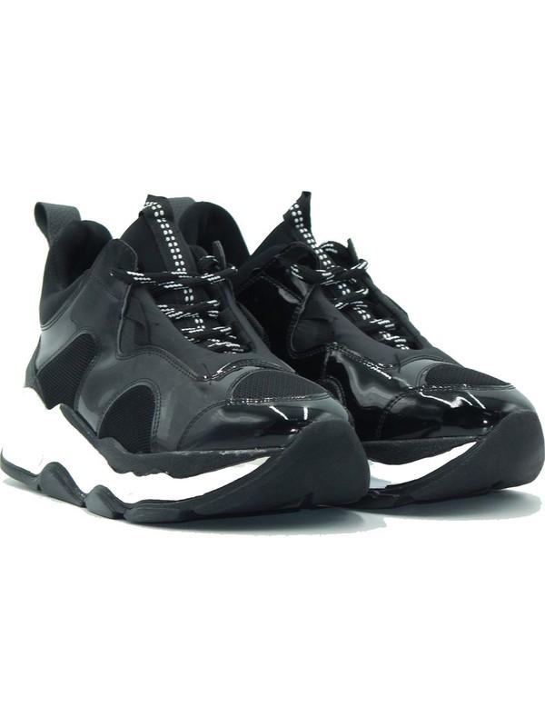 Park Moda Kadın Sneaker 179-508 Siyah.rugan