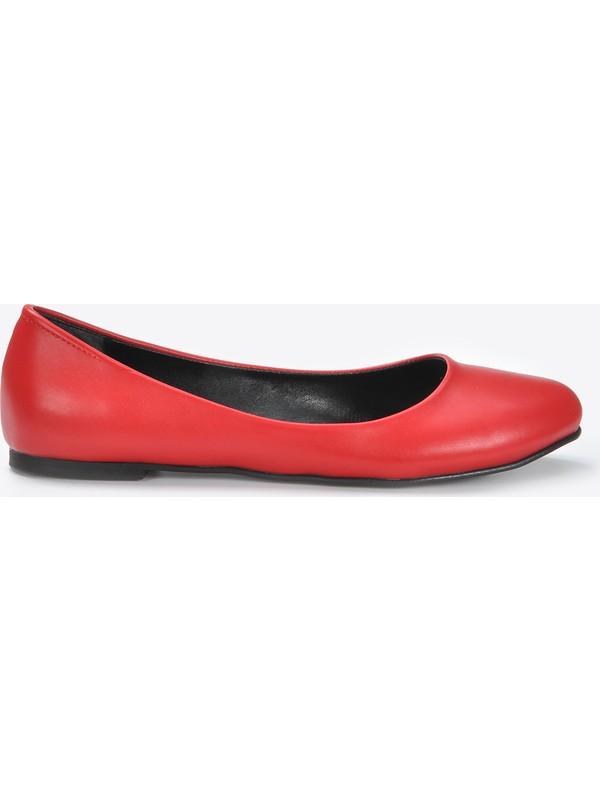 Vizon Kadın Kırmızı-Cilt Babet VZN20-071Y
