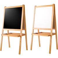 Zephome Çift Taraflı Çocuk Yazı Tahtası Ayaklı Resim Çizim Ressam Tahtası 120 x 60 cm