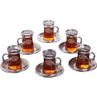 Busem Sefa Çay Seti Lale Desenli 6 Kişilik 18 Parça