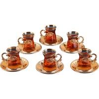 Busem Sefa Irem Çay Seti Işlemeli 6 Kişilik 18 Parça