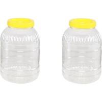Aspet Plastik Pet Kavanoz 5 lt - 2 Adet