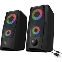 Rampage RMS-X9 2.0 RGB Işıklı Multimedia 5V 30dB Gaming Oyuncu Speaker