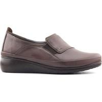 Evida 2588 Hakiki Deri Kadın Ayakkabı Vizon