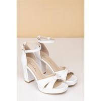 Pierre Cardin Kadın Topuklu Ayakkabı-Beyaz