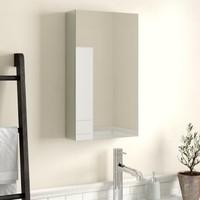 Taç Dekorasyon Tek Kapaklı Aynalı Banyo Dolabı Üst Modülü Beyaz