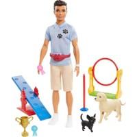 Barbie Ken ve Meslekleri Oyun Setleri GJM32 GJM34 Köpek Eğitmeni