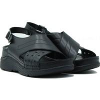 Turgutlar Stella Kadın Deri Kadın Sandalet 20339 Siyah