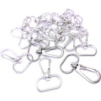 Platin Gümüş Renk Metal Makrome Anahtarlık Halkası 25 Adet