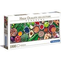 Clementoni - 1000 Parça High Quality Panorama Yetişkin Puzzle - Healthy Veggie