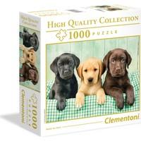 Clementoni - 1000 Parça High Quality Yetişkin Puzzle - Three Labradors