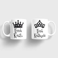 Sevgili Kupaları Evin Kralı Evin Kraliçesi Kupa Takımı