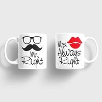 Sevgili Kupaları Mr. Right Mrs. Always Right Kupa Takımı