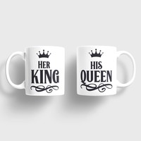 Sevgili Kupaları Her King His Queen Kupa Takımı