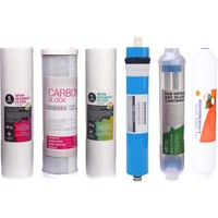 Overwater Su Arıtma Cihazı Filtresi 6'lı Filtre Seti Paket 6 Aşama Membran