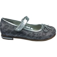 Cici Bebe Tıpış Tıpış Patik Babet Gümüş Leopar Simli Kumaş Kız Çocuk Ayakkabı Cirtli İçi Deri