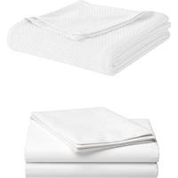 Alla Turca Çift Kişilik Pike Seti-Beyaz/beyaz
