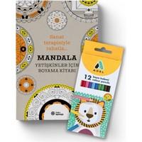 Mandala Yetişkinler İçin Boyama Kitabı Set(Boyama Kitabı+Boya Kalemi) - Sophie Leblanc
