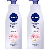 Nivea Nbody Pump Kıraz Çiçeği&jojoba Yağı Losyon 400 ml x 2 Adet
