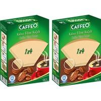 Caffeo Kahve Filtre Kağıdı 1x4 80'li 2 Paket 160'LI
