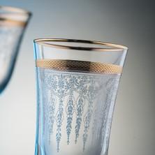 Kcd Cam Dekor Di̇zayn Efruz Altın 61 Parça Su Takımı