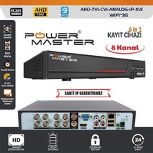 Powermaster 6in1 8 Kanal 1080N Dvr Kayıt Cihazı H265