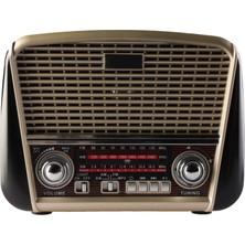 MF Product Acoustic 0186 Retro Fenerli Kablosuz Radyolu Bluetooth Hoparlör Siyah