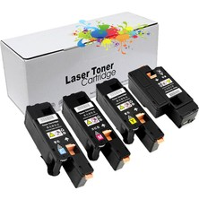 Proprint Xerox Phaser 6000 / 6010 / 6010N / 6015 - Cmyk 1 Set 1000 Sayfa Renkli Muadil Toner