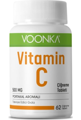 Voonka Vitamin C 500 mg 62 Çiğneme Tableti
