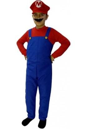 Kostümce Süper Mario Kostümü 11 - 12 Yaş