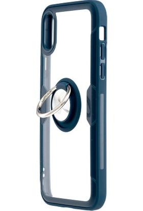 MF Product Jettpower 0303 Telefon Kılıfı iPhone X/Xs Uyumlu Koyu Mavi