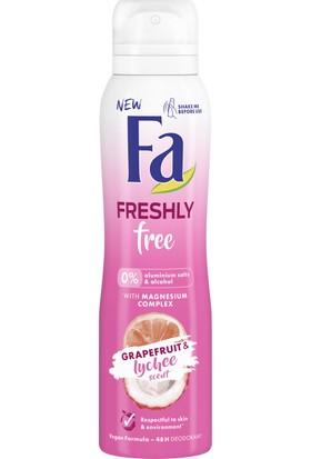 Fa Freshly Free Greyfurt & Liçi Sprey Deodorant 150 ml Kadın