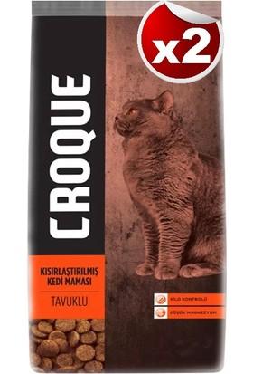 Croque Tavuklu Kısırlaştırılmış Kedi Maması 1,5 kg 2'li