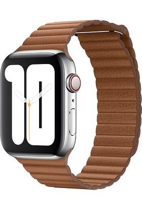Apple Watch 42 mm - 44 mm DeriLoop KlasikKahve Kayış Orta Boy - MXAF2ZM/A