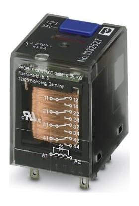 Phoenix Contact Rel-Ir-Bl/l- 24DC/4X21 24VDC 6A 4 Kontak Röle
