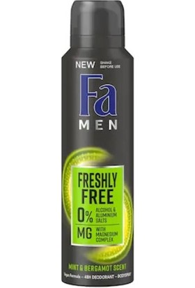 Fa Men Freshly Free Nane & Bergamot Sprey Deodorant 150 ml Erkek