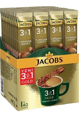 Jacobs 3ü 1 Arada Gold Kahve Karışımı Yumuşak Lezzet 18 gr x 40'lı