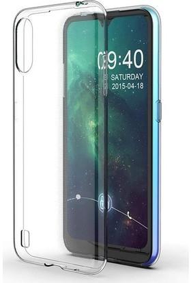 Tekno Grup Samsung Galaxy A01 Kılıf Darbe Emici Süper Silikon Kılıf Şeffaf