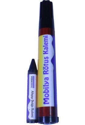 Vodaseal Mobilya Rötuş Seti Ahşap Dolgu Kalemi Çizik Çatlak Kapatıcı Siyah