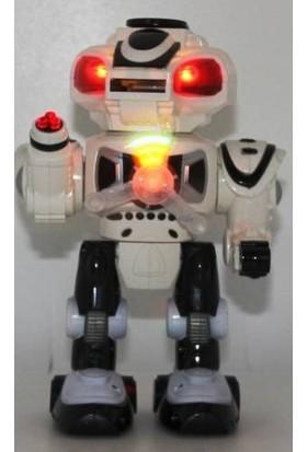 Mega Oyuncak Müzikli Işıklı Disk Atan Oyuncak Robot Robodisk