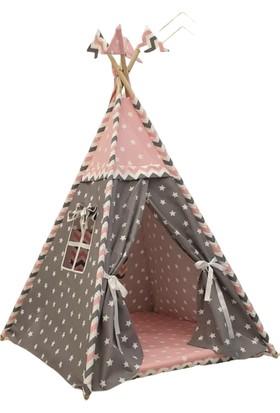 Childlair Büyük Boy Oyun Çadırı Gri Yıldızlar