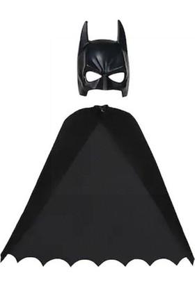 Kostümce Batman Çocuk Pelerin Maske Seti