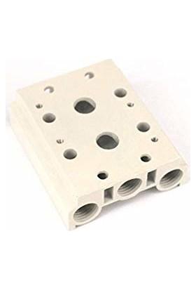 Motion Valf Manifoltları 1/4 5-2 310 Serisi G Gövde Valf Plate 1/4 Altılı Manifolt Geniş Gövde