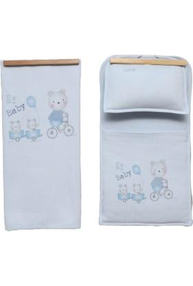 Bebitof Gezideki Ikizler Bebek Alt Açma Seti 50003 - Mavi