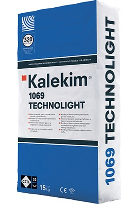 Kalekim 1069 Technolight Hafif Çok Esnek Yapıştırma Harcı