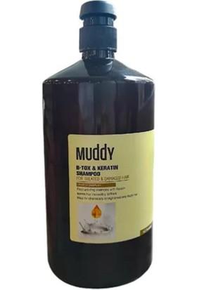 Muddy B-Tox & Keratin Onarıcı Saç Şampuanı 1000 ml