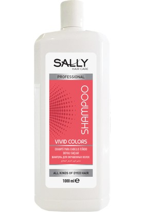 Sally Profesyonel Şampuan Vivid Colors 1 Litre - Boyalı Saçlar