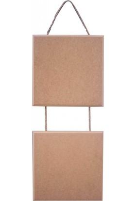 TYMCNC Ahşap BY0158 Boyanabilir Hobi Pano 21 x 21 x 0,9 cm