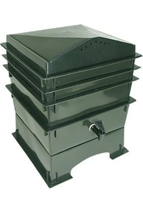 Ekosolfarm Kompost Box 4 Katlı Solucan Evi