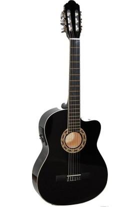 Carissa CG-160CE BK Elektro Klasik Gitar - Siyah